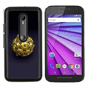 For Motorola MOTO G3 / Moto G (3nd Generation) Case , Resumen de Oro- Diseño Patrón Teléfono Caso Cubierta Case Bumper Duro Protección Case Cover Funda