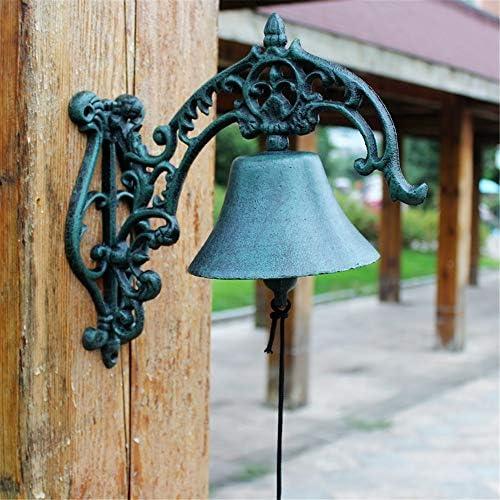 アンティークドアベル ヘビーデューティはベルようこそログイン装飾ヴィンテージ呼び鈴をハンギングアイアンウォールキャスト 鋳鉄の装飾的なドアベル (Color : Brass, Size : 28.5X28X14.5CM)