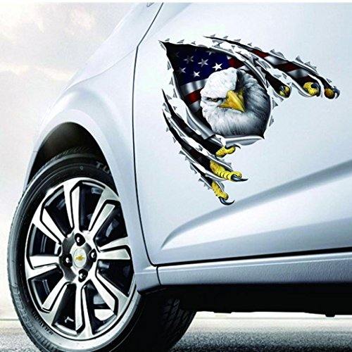 Elephant Decal Set - 1PC Car Eagle Stickers,Bald Eagle American Flag Sticker/Decal for Vehicles - 12