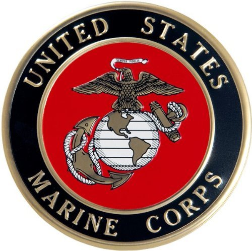 Wood Cremation Urn - Mahogany Freedom Military (Marines)