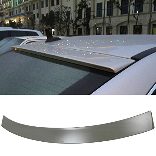 (Pre-painted Roof Spoiler Fits 2008-2014 Benz C-Class   OE Style Painted #197 Obsidian Black Met Rear Spoiler Wing Replacement Kit Other Color Available By IKON MOTORSPORTS   2009 2010 2011 2012 2013)