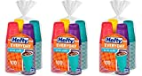 Hefty Everyday Assorted Colors Party HRkXk Cups, 100 Count (3 Pack)
