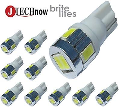 6*  T10 168 194 W5W led Bulb w5w  LED White Super Bright Car Lights Bulb 6000k