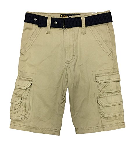 LEE Big Boys Dungarees Belted Wyoming Cargo Short, Sand, 7 - Ring D 7 8
