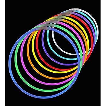 "50 Premium 22"" Glow Stick Necklaces - Assorted Colors"
