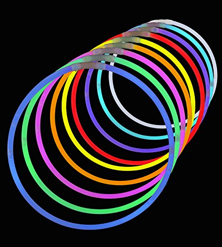 "50 Premium Lumistick 22"" Glow Stick Glow Necklaces - Assorted Color Mix 4"