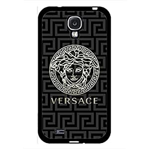 Lucky Case Versace Phone Case For Samsung Galaxy S4 Custom Unique Design Luxury Versace Logo Black Hard Phone Case