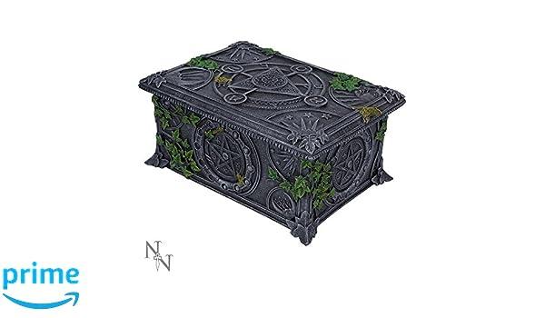 Nemesis Now - gris caja de Wiccan pentagrama Tarot - 17,5 cm: Amazon.es: Hogar