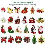 Toyvian 24Pcs Hanging Ornaments,Christmas Animals
