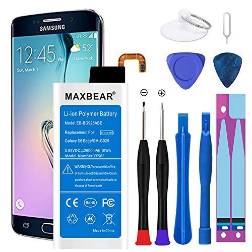 Batería para Galaxy S6 Edge, MAXBEAR 2600mAh