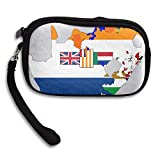 Flag Map Of South Africa Deluxe Printing Small Purse Portable Receiving Bag