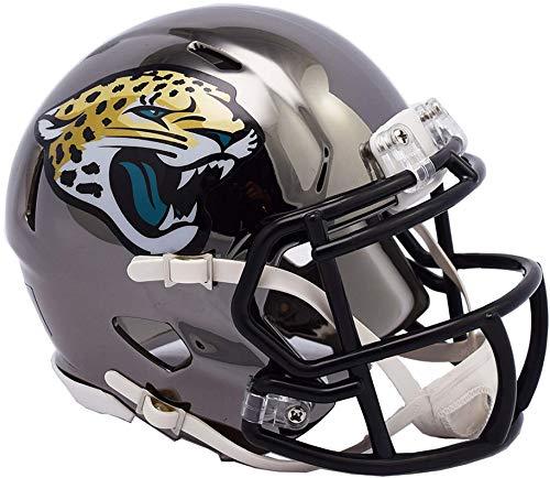 Riddell Jacksonville Jaguars Chrome Alternate Speed Mini Football Helmet - NFL Mini Helmets -