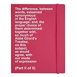 The difference, between words, esteemed synonymous: in the