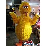 Original Big Bird Popular Alike Character Plush SPOTSOUND LTD Mascot Costume In Yellow