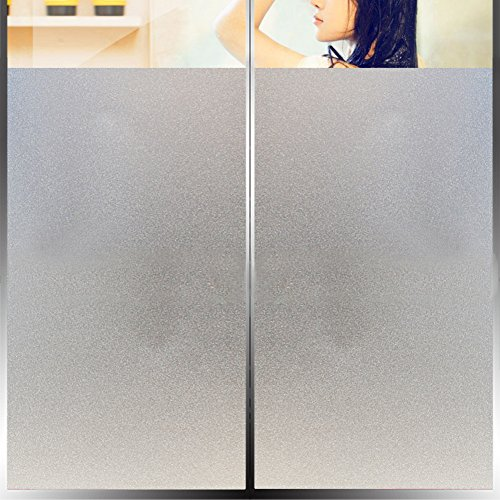No Glue Static Film,Frosted Privacy Window Film,Sun Protection Glass Heat Control Decorative Home Office Reusable Waterproof Oil Resistant Window Decal -A 76x100cm(30x39inch)