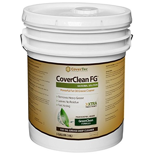 CoverClean FG Microbial Fat, Oil, GreaseCleaner, Deep Cleaning, Non Hazardous (5 Gal - Prof Grade)