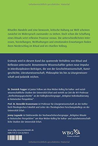 Ritual Und Reflexion Historische Beiträge Zur Vermessung Eines