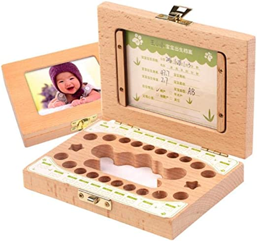 CUS - Caja de Madera para Guardar Dientes de Leche para bebé ...