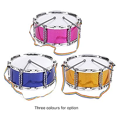ammoon Jazz Snare Drum Musical Toy Percussion Instrument with Drum Sticks Strap for Children Kids: Musical Instruments