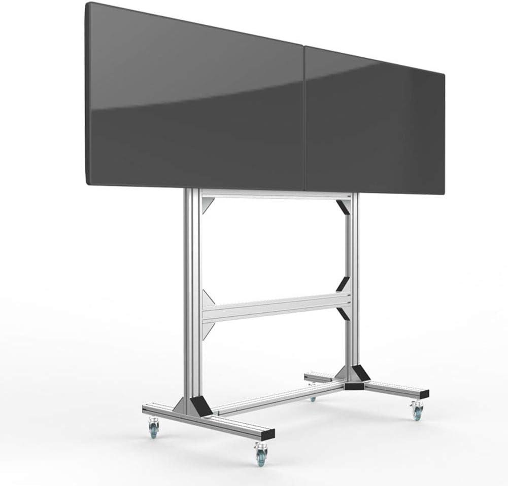 Soporte de visualización de Doble Pantalla Carro de TV móvil montado en el Piso Integrado exhibición Especial Estante de la TV para la exposición-para 40 Pantallas de TV 55
