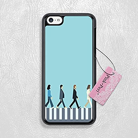 Pink Peri™ The Beatles Abbey Road Hard Phone Case For iPhone 5c case (Black) (Beatles Phone Case 5c)