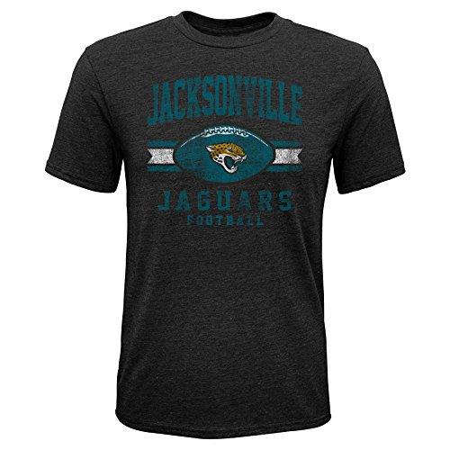 Outerstuff NFL NFL Jacksonville Jaguars Youth Boys Player Pride Short Sleeve Tri-Blend Tee, Black, Youth X-Large(18)