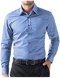 PAUL JONES Mens Long Sleeves Slim Fit Dress Shirts