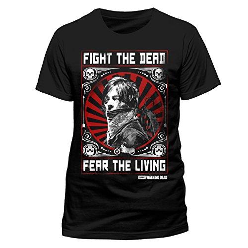I-D-C Walking Dead-Fear the Dead, Camiseta para Hombre, Multicolor, Small negro (negro)