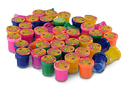 Kicko Mini Noise Putty Toys for Kids - Pack of 48 Slimes - Ideal for Sensory and Tactile Stimulation, Event Prize, Arts and Crafts, Bag Stuffer, Slime Parties, Educational Game, Assorted Color -