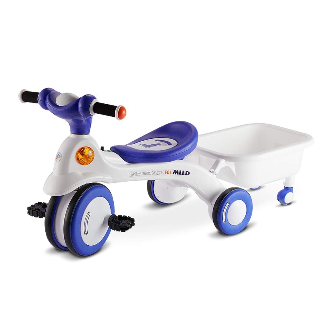 憧れの 子供の赤ん坊のペダルの三輪車の幼児の自転車、収納バスケット付き B B B07PR4GPCX B07PR4GPCX, 島根県:4da1b0a4 --- senas.4x4.lt