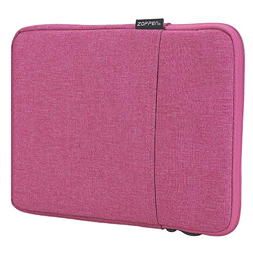 Zoppen 10 Inch Laptop Sleeve Case Protective Cover Portable Bag Compatible with 2018 Microsoft Surface Go 2017 iPad 9.7 | iPad Pro 9.7 | iPad Air 2/Air (iPad 6/5) Tablet Bag, Rose Red