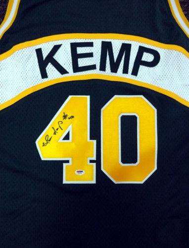 349e80140 Image Unavailable. Image not available for. Color: Shawn Kemp Autographed  Seattle Sonics Green Jersey PSA/DNA