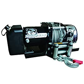 Bulldog Winch 10029 Winch (5800lb Trailer with 55 ft. Wire Rope, Roller Fairlead, Mounting Plate, Low Profile)