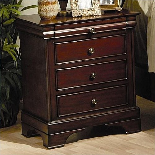 - Versailles Nightstand with Service Tray Deep Mahogany