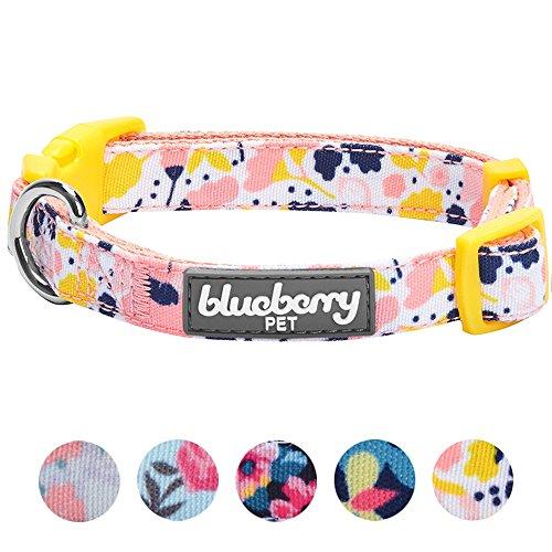 Blueberry Pet - Collar para Perro con diseño de Flores (12 Patrones, Correa y arnés a Juego), Disponible por Separado,...