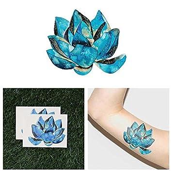 Amazoncom Tattify Watercolor Lotus Flower Temporary Tattoo