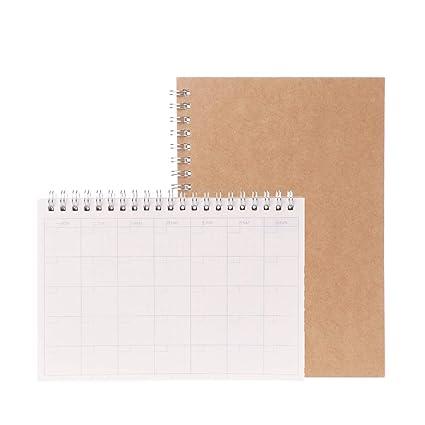 Agenda planificadora mensual semanal con agenda en blanco ...