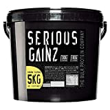The Bulk Protein Company Serious Gainz Mass Gainer Powder, Banana, 5 kg