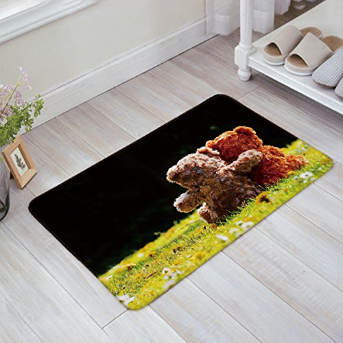 Indoor/Outdoor Industrial, Mat Easy Clean Entry Way Doormat For Patio, Front Door, All Weather, Exterior Doors, 18 x 30