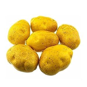 Mezly 6pcs Artificial Potatoes Large 4 inch Plastic Decorative Potatoes Vegetable Six Pieces 87