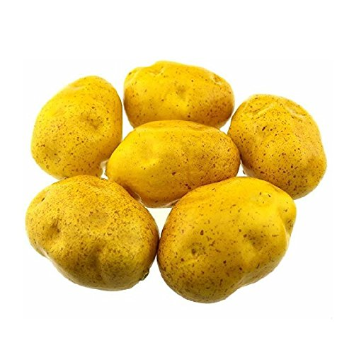 Mezly 6pcs Artificial Potatoes Large 4 inch Plastic Decorative Potatoes Vegetable Six Pieces by Mezly