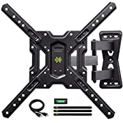 """#LightningDeal USX MOUNT Full Motion Swivel Articulating Tilt TV Wall Mount Bracket for 26-55"""" LED, OLED and 4K TVs, TV Mount Fit for 32, 40, 50 TV with VESA Up to 400x400mm-Weight Capacity Up to 60lbs"""