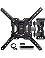"USX MOUNT Full Motion Swivel Articulating Tilt TV Wall Mount Bracket for 26-55"" LED, OLED, 4K TVs-Fit for 32, 40, 50 TV with VESA Up to 400x400mm-Weight Capacity Up to 60lbs"