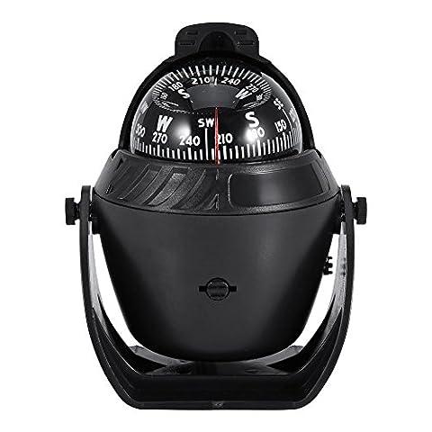 Car Boat Marine Compass Electronic Navigation LED Light Compass Camping Compass - Marine Electronics