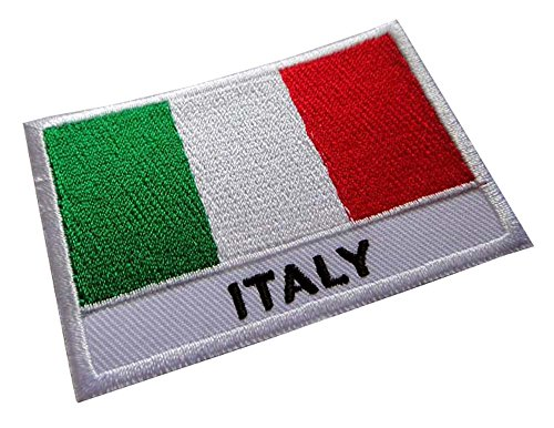 Italian Flag Patches (Italy Italia Italian National Flag Sew on Patch Free Shipping)