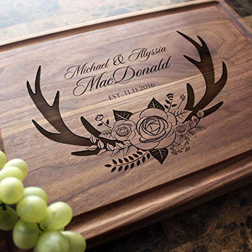 (Personalized Cutting Board, Custom Keepsake, Engraved Serving Cheese Plate, Wedding, Anniversary, Engagement, Housewarming, Birthday, Corporate, Closing Gift #412)
