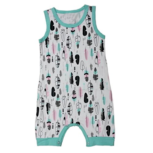 Price comparison product image Efaster Lovely Newborn Infant Kids Boy Girl Cartoon Printed Romper Jumpsuit Clothes (6M, Green)
