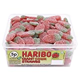 Haribo Giant Sour Strawberries (Tub of 120)