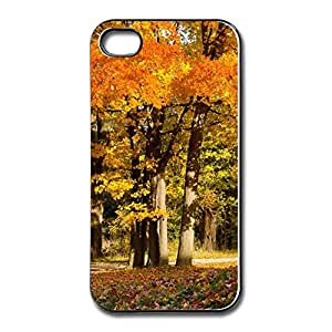 Top Brand Customize Hard Back Cover Fall Trees Create Your Own Skin For Iphone 4/4s