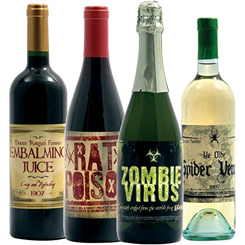 [Halloween Wine Bottle Stickers (8 count)] (Wine Bottle Costumes Halloween)